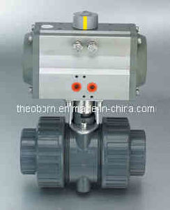 Pneumatic Plastic Ball Valve