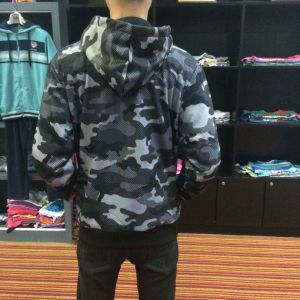 Army Cambo Print Jacket Hoodies Clothes with Zip-up Wear Fw-8661 pictures & photos