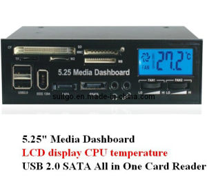 "5.25"" LCD Media Dashboard Card Reader Front Panel"