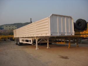 40 Feet 2 Axles Waste Drop Side Trailer pictures & photos