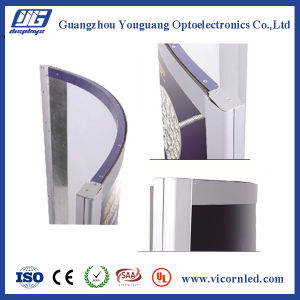 High brightness Curved ARE slim LED snap-frame Light Box pictures & photos