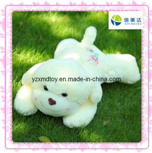 Cute Fluffy White Dog Plush Toy pictures & photos