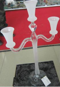 Frosting Glass Candle Holder with Three Posts. pictures & photos