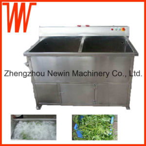 Double Cylinder Automatic Commercial Fruit Vegetable Washer pictures & photos