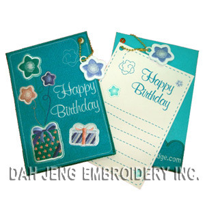 Birthday Greeting Embroidered Card pictures & photos
