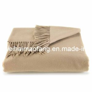 100%Cashmere Throw with Fringe pictures & photos