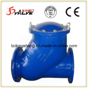 Ductile Iron Flanged Rubber Ball Check Valve Pn16 pictures & photos