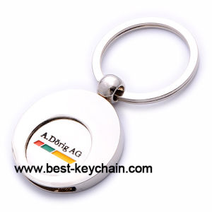 Custom Promotion Token Metal Trolley Coin Key Chain (BK52617) pictures & photos