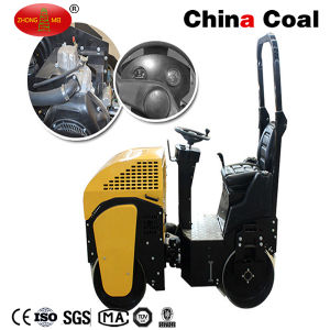 Small Ride on Manual Double Drum Asphalt Vibratory Road Roller pictures & photos