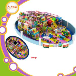 Huge Attractive Soft Indoor Playground with Slide and Trampoline pictures & photos