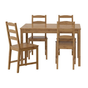 Pine Wood Dining Table and Chair