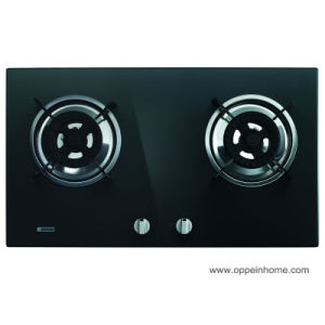 2-Burner Tempered Glass Top Stainless Steel Gas Stove (Jz (Y. T. R) Q302A) pictures & photos
