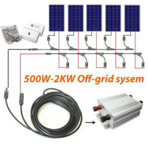 off-Grid Solar System 500W to 1.5kw for Home pictures & photos