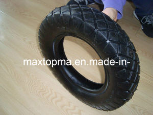 Peru Wheel Barrow Tire 350-8 with Big Square pictures & photos