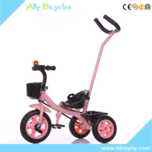 Trolley Children′s Wheel Child′s Tricycle Hand Push Kids Bicycle with Pusher pictures & photos