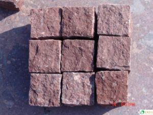 Natural Split Surface Granite Cubestone for Floor Tiles
