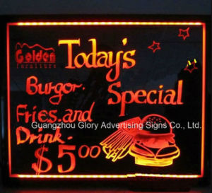 Fluent Hand Writing Board Light Box LED Writing Menu Board pictures & photos