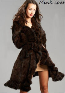 2014 Winter 100% Natural Long European Mink Fur Coat pictures & photos