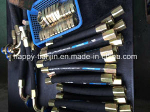 High Pressure Hydraulic Rubber Hose Pipe with Reusable Fittings pictures & photos