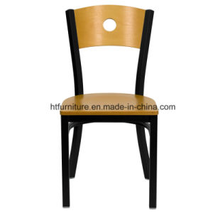 Back Metal Restaurant Chairs Wood Back Plus Wood Seat pictures & photos