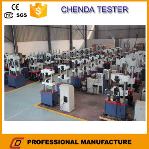 Waw-600d Hydraulic Universal Testing Machine for Steel Strand Tensile Strength Test pictures & photos