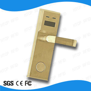 Modern Stainless Steel Golden High Security and Safe ANSI Mortise Electronic Lock with Smart Card (L513-M) pictures & photos