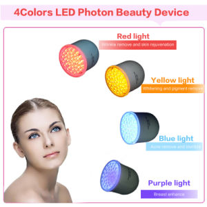 4 Colors Photon Rejuvenation Microcurrent Facial Lifting Wrinkle Removal Machine pictures & photos