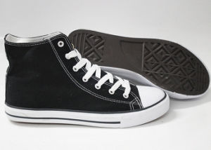 Classic Style High-Top Canvas Shoes for Children (SNC-240031) pictures & photos