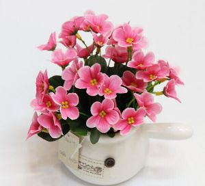 Artificial Flower Pink Flower with Fresh Touch for Sale pictures & photos