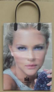 HDPE Fashionable Printed Plastic Handle Bags for Garments (FLC-8110) pictures & photos