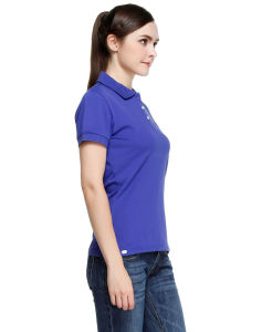 Design Women′s Blank Plain Cotton Polo T Shirts pictures & photos