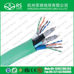 Structured Cable Rg6q with CAT6 and Fiber Optical Cable