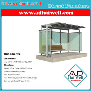 Bus Shelter, Bus Stop, Side Elevation Mupi Light Box pictures & photos
