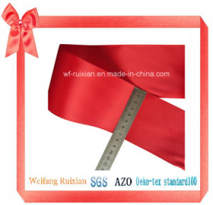 "3"" Polyester Satin Ribbon for Packing Decoration Garment"