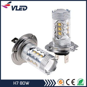 Cheaper Prices H7 80W Car LED Fog Bulb Bright White pictures & photos