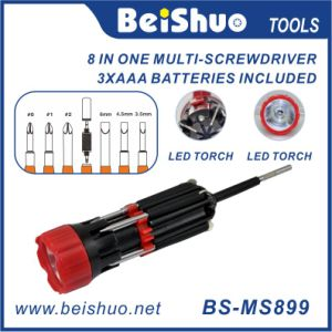 8 in 1 Portable Multi Screwdriver with LED Torch pictures & photos
