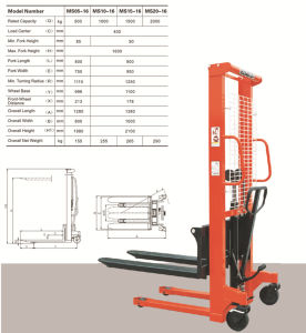Manual Stacker with CE Certificate (Ms Series) pictures & photos