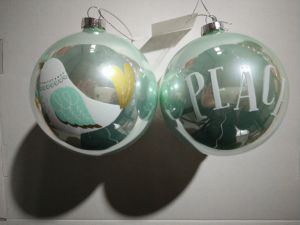 10cm X′mas Glass Ball with Decal (three pattern) pictures & photos