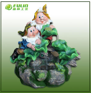 Big Gnome Resin Outdoor Waterfall (NF14321)