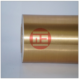 Brushed Gold Color Vinyl Film.
