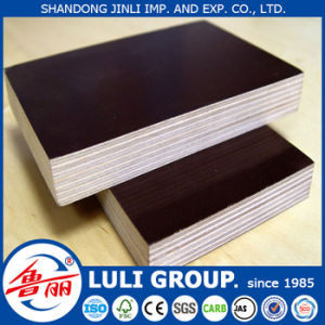 Cheap Poplar Core Film Faced Plywood/Construction Plywood pictures & photos