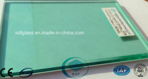 Double Clear Float Glass+F-Green PVB Laminated Glass pictures & photos