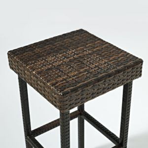 Well Furnir T-067 Durable Steel Frame Brown Finish Resin Wicker Backless Bar Stools pictures & photos