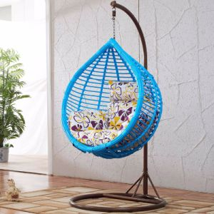 Garden Furniture Hanging Chair Wicker Egg Chair Outdoor Rattan Swing Chair (D017A) pictures & photos