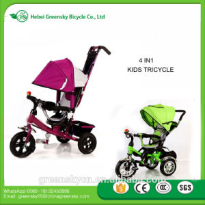 2017 New Kids Baby Tricycle / Cheap Price Kids Metal Tricycle with Back Seat / 3 Wheels Tricycle for Children Top Quality pictures & photos