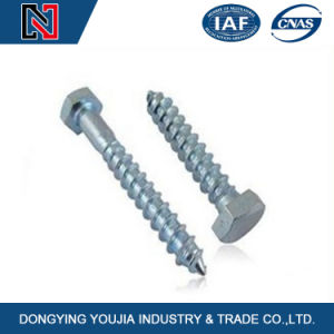 Grade 12.9 Carbon Steel Zinc Plated Hex/Hexagon Head Wood Self Tapping Screw DIN571 pictures & photos