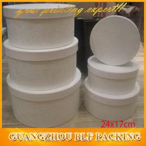 Elegant White Cylinder Round Cardboard White Gift Box pictures & photos