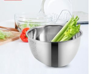 Stainless Steel Deep Wash Rice Strainer (JH-001)