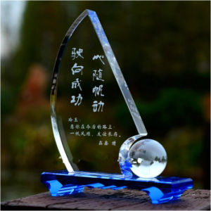 Unique Design Blue Crystal Trophy for Souvenirs & Winners pictures & photos