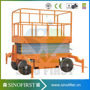 Top Quality 4m -18m Hydraulic Trailing Mobile Scissor / Hydraulic Scissor Lift pictures & photos